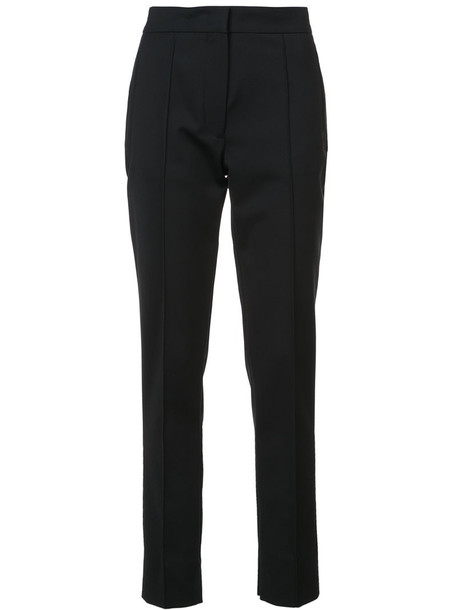 DEREK LAM women spandex fit cotton black pants