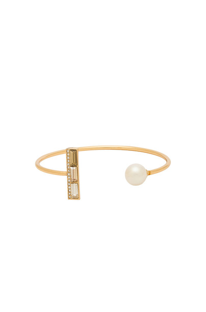 Rebecca Minkoff cuff pearl cuff bracelet metallic gold jewels