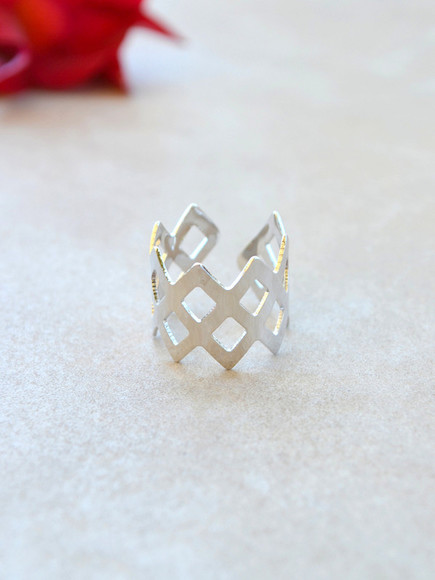 geometric jewels ring silver silver ring crown crown ring geometric ring silver rings