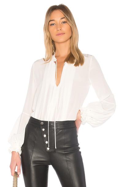Alexis blouse silk white top