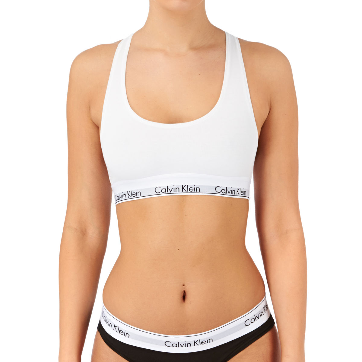 f91b56f154f Calvin Klein Modern Cotton Bralet Sports Bra - White
