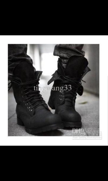 bcd6462c8a2f shoes black black boots leather boot edgy vintage vintage boots black  vintage boots combat boots menswear