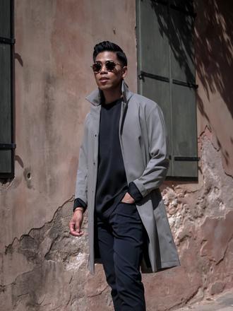 closet freaks blogger coat t-shirt shoes sunglasses mens jacket menswear mens coat mens pants