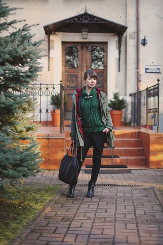 kapuczina blogger winter sweater tote bag parka