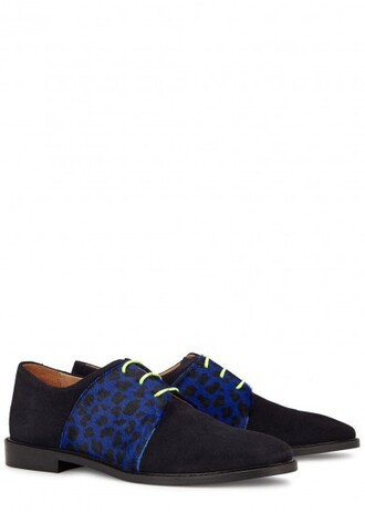 shoes navy derbies flats