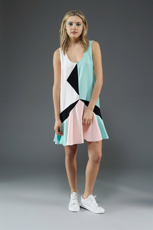 Cady collage dress