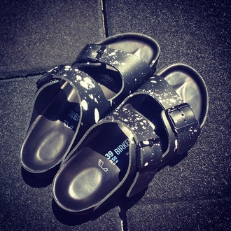 shoes slipper black birkenstocks