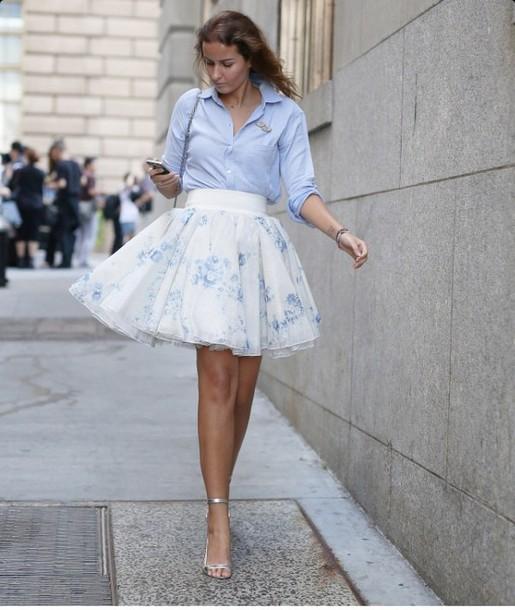 skirt, tulle skirt, shirt, high waisted skirt, floral skirt, floral ...