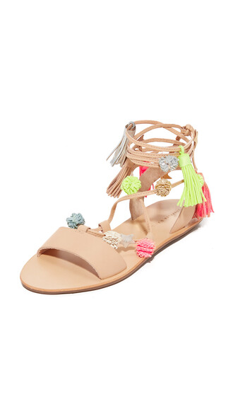 fluo sandals shoes