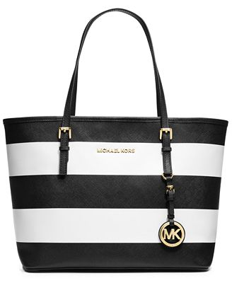 MICHAEL Michael Kors Jet Set Stripe Small Travel Tote - Shop All Michael Kors Handbags & Accessories - Handbags & Accessories - Macy's