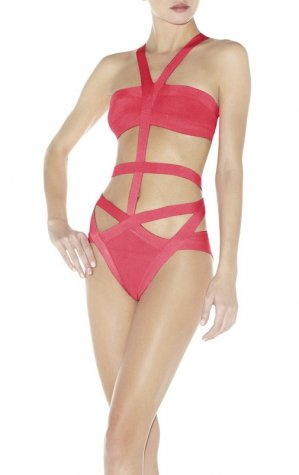 Herve Leger Sexy Watermelon Red V Neck Swimsuit [Herve Leger Swimsuit] - $106.00 : Cheap Herve Leger Bandage Dresses, 60% off Herve Leger Clothing Online