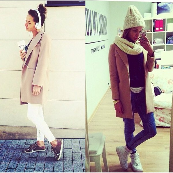 wool cold coat fashion trench coat