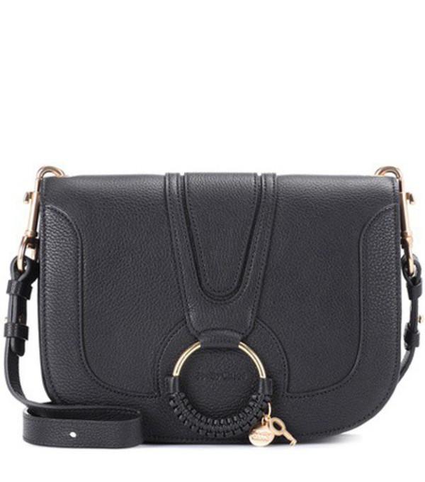 See By Chloé Hana Medium leather shoulder bag in black