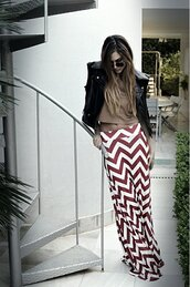 skirt,maxi skirt,stripes,chevron