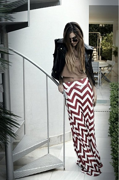 stripes skirt maxiskirt