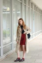 kristina magdalina,blogger,top,skirt