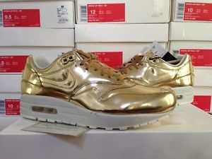 finest selection 7ec34 66522 ... real 2013 womens nike air max 1 sp liquid metal gold atmos patta animal  safari beast ...
