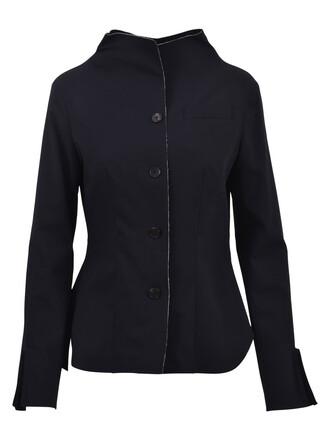 jacket wool jacket silk wool blue