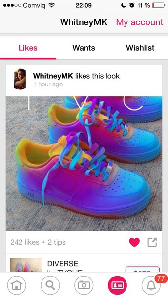 shoes rainbow shoes rainbow nike red blue yellow nike air force air force high air max nike air force 1 nike air force 1