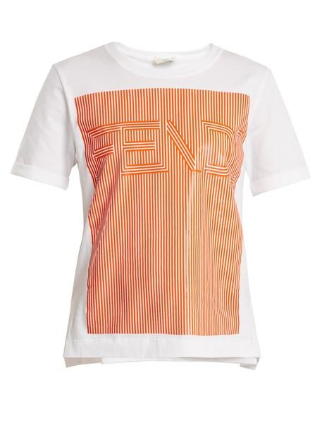 Fendi t-shirt shirt t-shirt cotton print white top