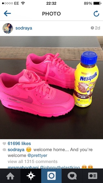 shoes trainers air max sneakers sneakers nike air max neon pink neon pink nike running shoes nike sneakers neon pink nike air nike air max 90 pink nike draya michele pink nike air max 90