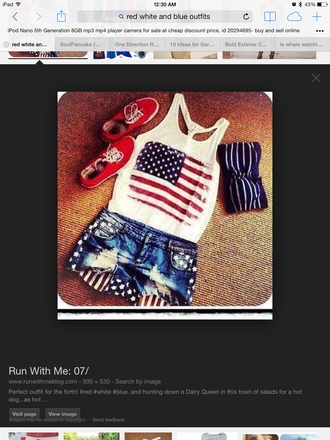 shorts summer outfits american flag spirit red white and blue