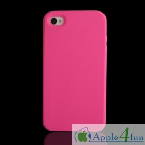 detailing 06f51 47153 Soft Silicon Silicone Gel Back Cover Case For iPhone 4S / 4 Hot Pink