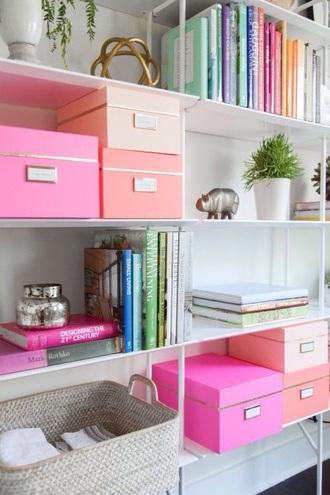 home accessory desk girly organizer pink salmon