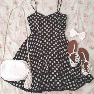 dress little black dress flowers