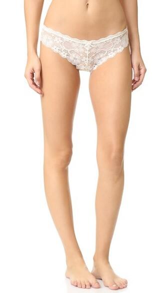 thong lace cream underwear