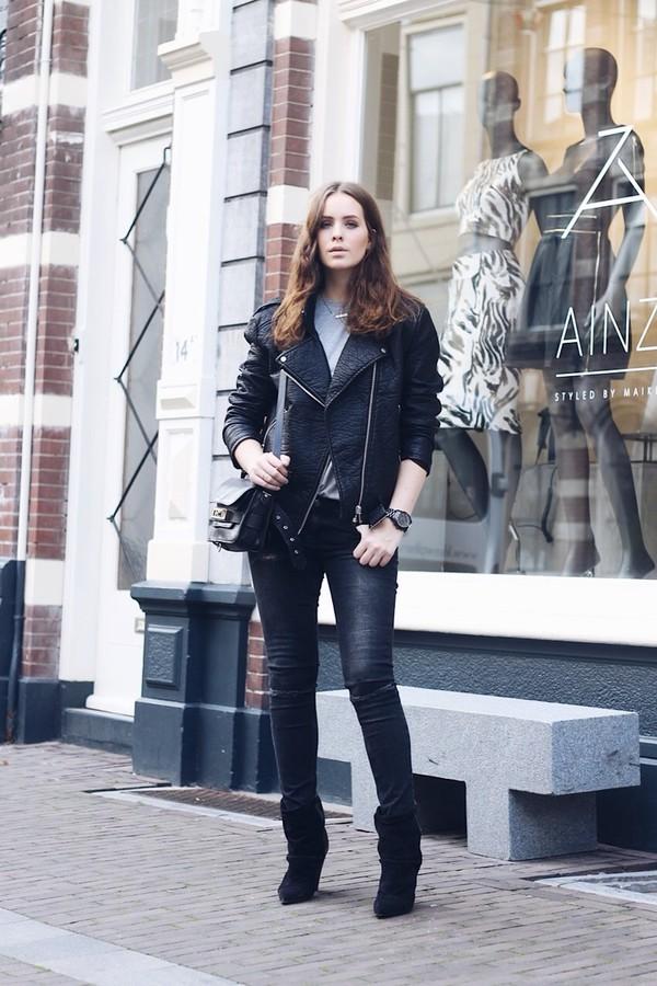 moderosa blogger jeans t-shirt jacket