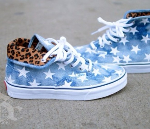 vans vans off the wall shoes vans authentic vans sneakers leopard print vans leopard print stars printed vans