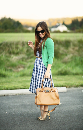 dress corilynn blogger gingham spring dress handbag