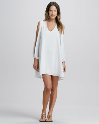 Lovers   Friends Gracie Slit-Sleeve Dress - Neiman Marcus
