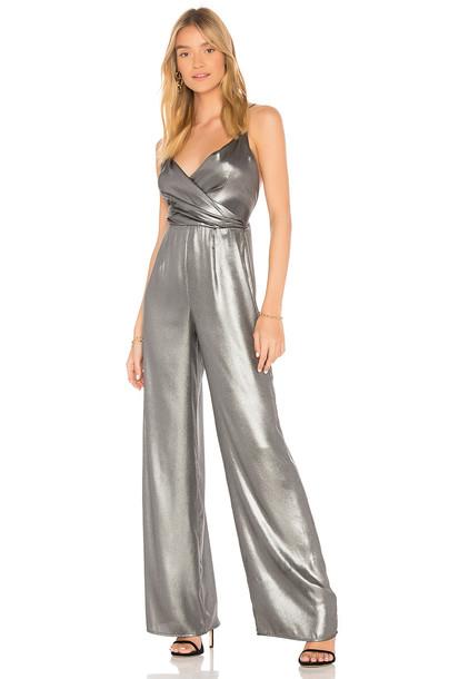 jumpsuit metallic silver