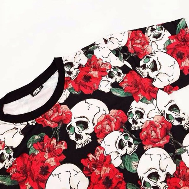 t-shirt ghost crop tops shirt