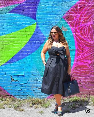 dress tumblr midi dress black midi dress black dress sandals sandal heels high heel sandals plus size plus size dress shoes sunglasses