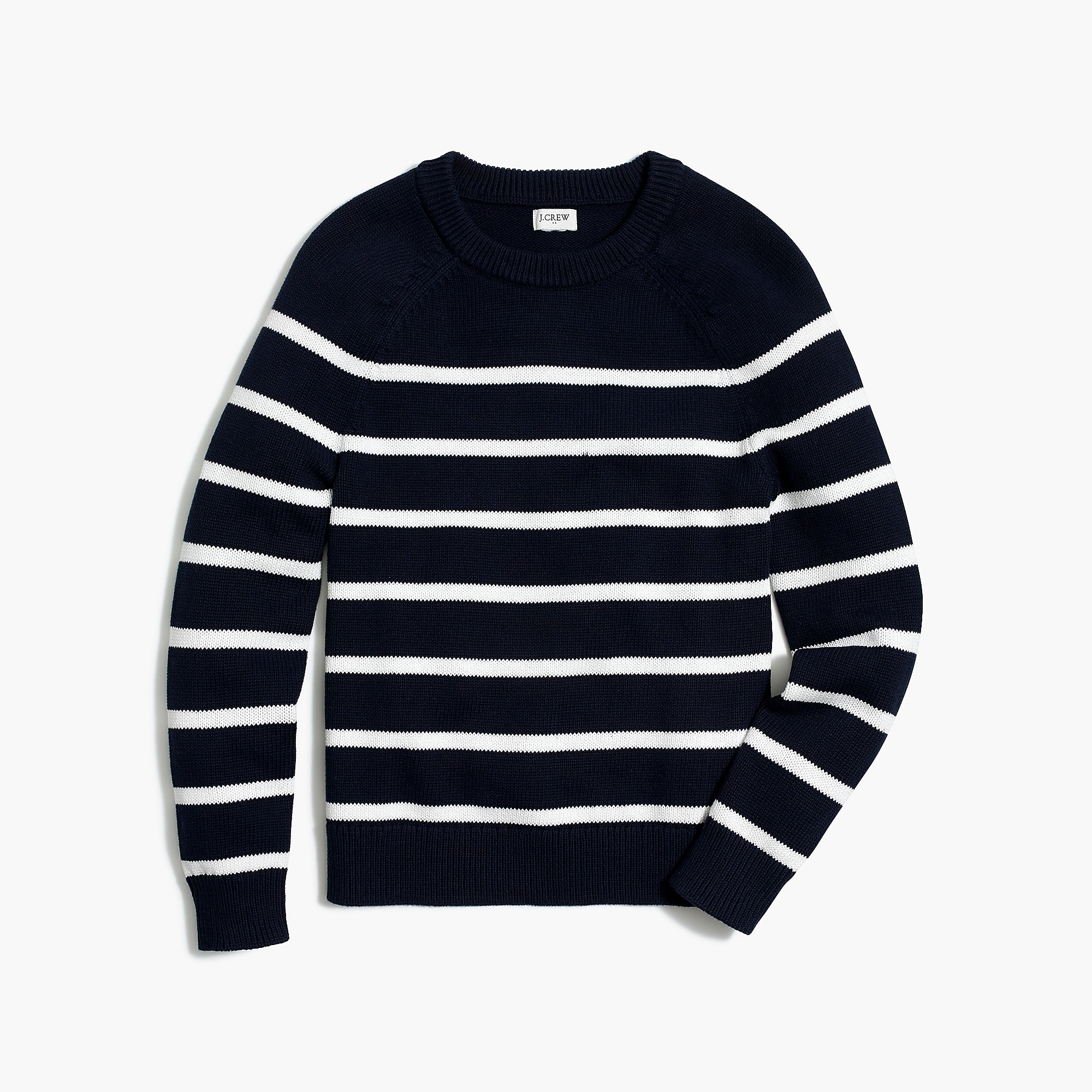 Raglan striped sweater