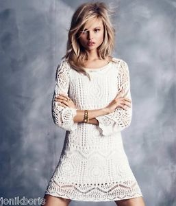 H&M SEXY WHITE MILK CROCHET LACE DRESS DRESS S M L BNWT | eBay
