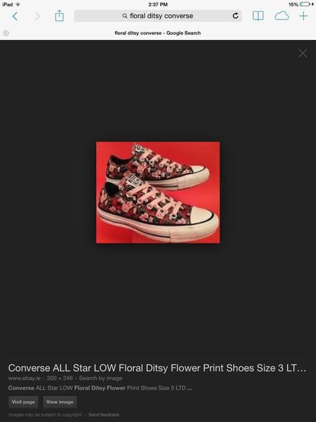 shoes converse floral