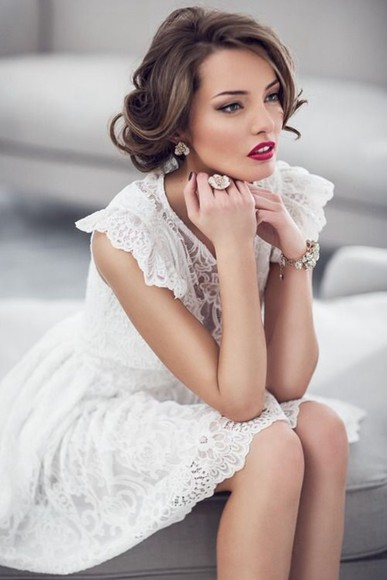 dress formal dress formal classy white white dress lace dress white lace dress delicate formal white dress