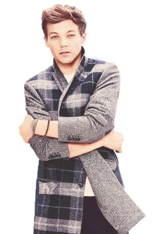 one direction louis tomlinson winter coat menswear mens jacket grey coat coat