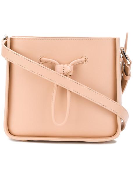 women bag bucket bag leather nude
