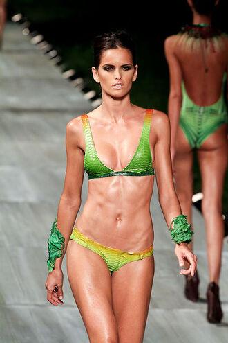 swimwear lenny swimwear bikini green neon neon yellow back open back yellow swimwear green swimwear