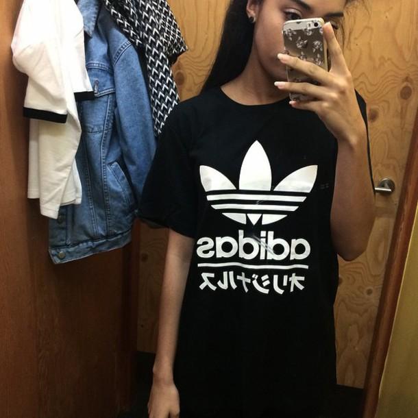 T Shirt Adidas Chinese Top Chinese Symbols Adidas Sweater