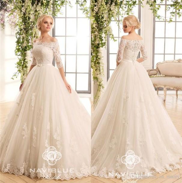 Dress, Naviblue 2017 Wedding Dresses, Vintage Lace Wedding