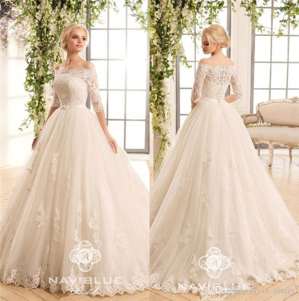 Dress Naviblue 2017 Wedding Dresses Vintage Lace Wedding Dresses