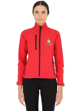 jacket casual shell soft red