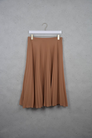 Camelfarbener Faltenjupe von ZARA online kaufen - Grösse M - Marke ZARA | Vintage-Fashion Online Shop fürs Verkaufen und Kaufen