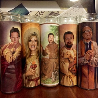 home accessory candle it's always sunny religious funny